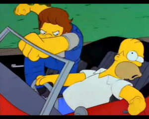 homer fight