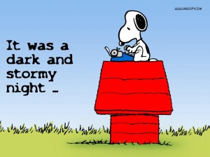 snoopy writing